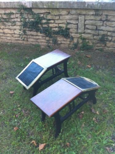 Paire d'anciens sièges de chausseurs