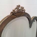 Miroir de bijouterie ancienne